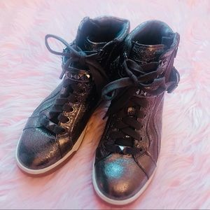 MK Michael Kors glam metallic sneakers GUC 7 1/2